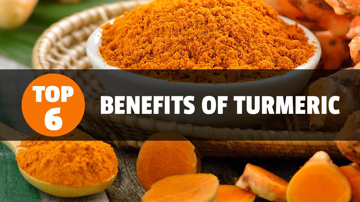 The six health benefits of turmeric